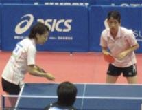 卓球競技 成年女子 藤沼・野上選手 (団体 第5位)