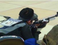 ライフル射撃競技 成年男子 今村吉宏選手(10mS60M 第8位)