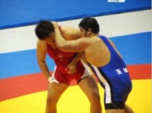 レスリング競技 成年男子 前川 勝利選手 (グレコローマンスタイル 120kg級 優勝)