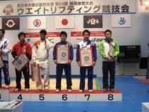 ウエイトリフティング競技 成年男子  坂 祐哉選手 (69kg級 第7位)