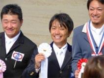 馬術競技 成年男子 増山 大治郎選手(中央) (トップスコアー 第4位)