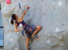 山岳競技 成年女子 野口・平井選手 (リード・ボルタレン 第2位)