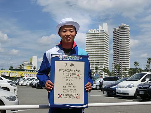 和歌山国体 セーリング競技(少年男子) 8位入賞!