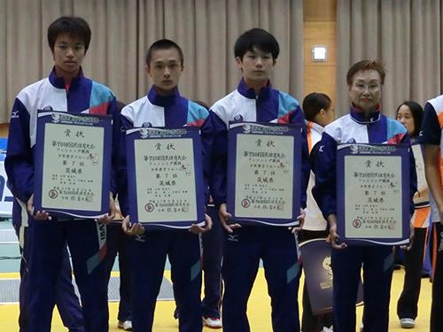 和歌山国体 フェンシング競技(少年男子) 入賞!