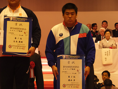 和歌山国体 レスリング競技 優勝!