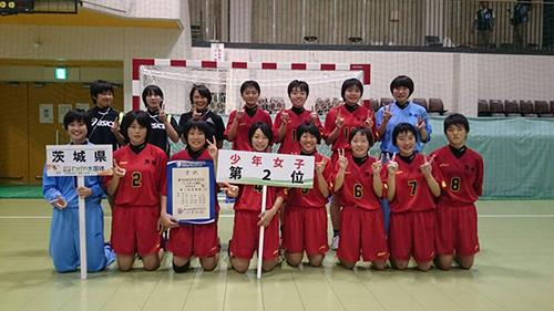 和歌山国体 ハンドボール競技(少年女子) 準優勝!