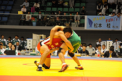 レスリング競技成年男子(赤)