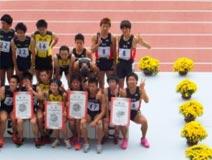 陸上競技 成年少年共通男子  茨城選抜 (4×100mリレー 第8位)