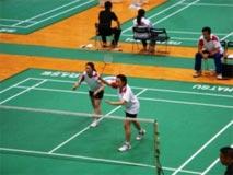 バドミントン競技 成年女子  牧之瀬・平山選手 (団体 第5位)