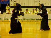 銃剣道競技 成年男子(赤)