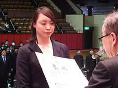 優秀選手賞個人受賞者代表 水泳競技 糸山真与(日本体育大学)