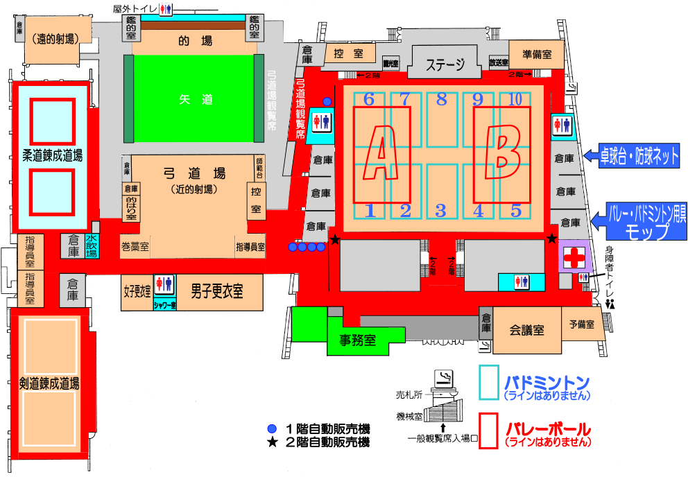 武道館平面図